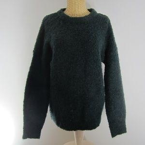 H&M Dark Green X-Small LS Boucle Pullover Sweater